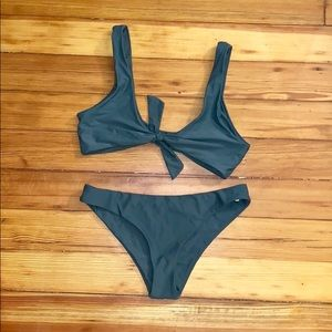 Zaful Green Bikini